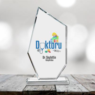 - Çocuk Doktorlarına Özel Asimetrik Kristal Ödül