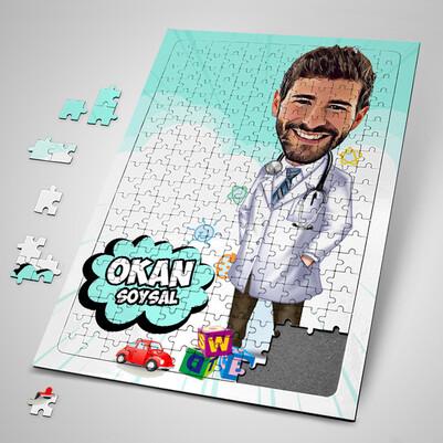 - Çocuk Doktorlarına Özel Karikatürlü Puzzle
