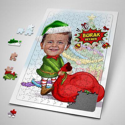 - Çocuk Noel Baba Karikatürlü Puzzle