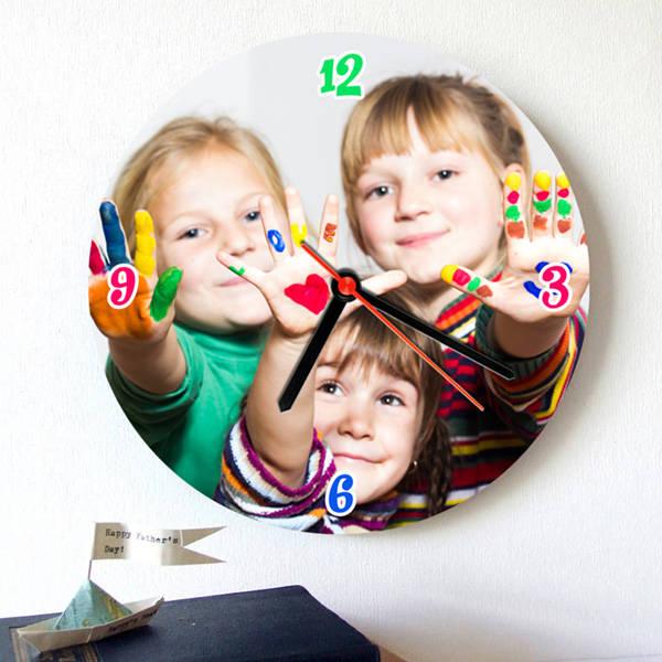 Çocuklara Hediye Fotoğraflı Duvar Saati