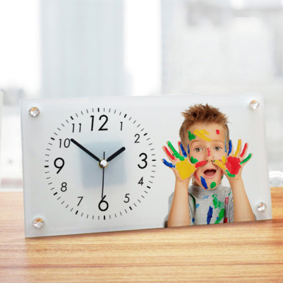 Çocuklara Özel Cam Masa Saati - Thumbnail