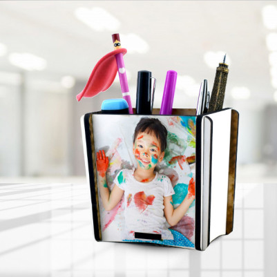 Çocuklara Özel Fotoğraflı Kalemlik - Thumbnail