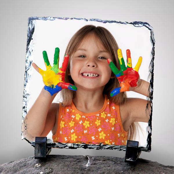 Çocuklara Özel Fotoğraflı Taş Baskı