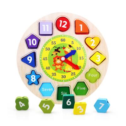 - Çocuklara Saat Öğretici Ahşap Oyuncak