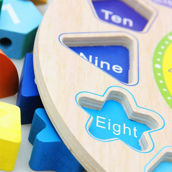 Çocuklara Saat Öğretici Ahşap Oyuncak