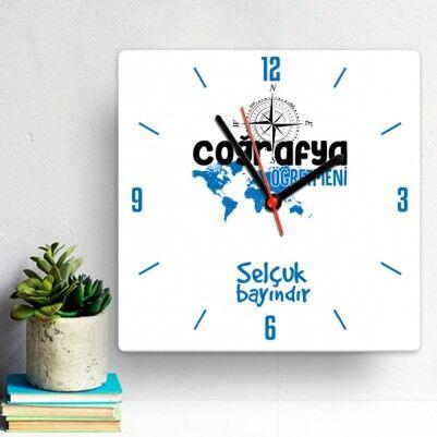 - Coğrafya Öğretmeni İçin Hediyelik Duvar Saati