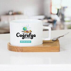 - Coğrafya Öğretmeni Temalı Çay Fincanı