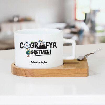 - Coğrafya Öğretmenine Hediye Çay Fincanı