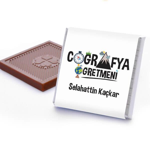Coğrafya Öğretmenine Hediye Çikolata Kutusu