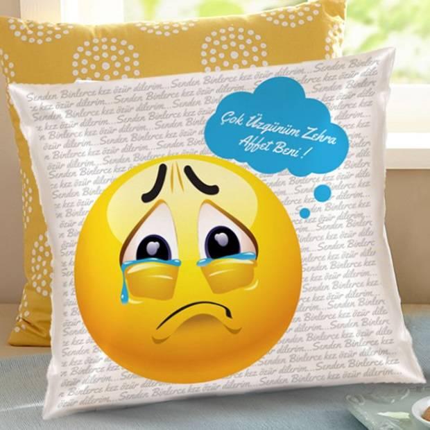Çok Üzgünüm Beni Affet Emoji Yastık