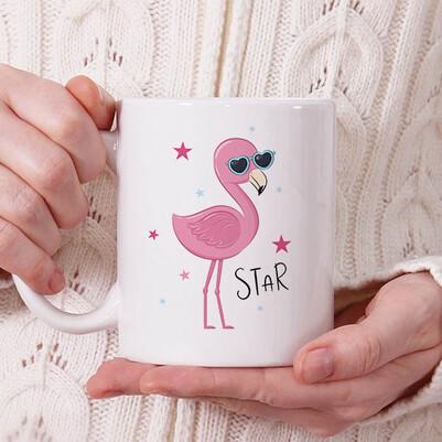 - Cool Pink Bird Tasarım Kupa Bardak