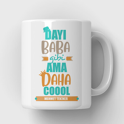 Coool Dayım İsimli Kupa Bardak - Thumbnail