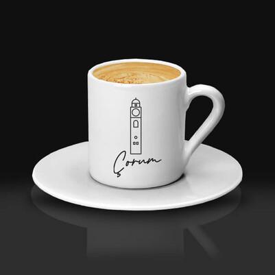- Çorum Tasarımlı Kahve fincanı