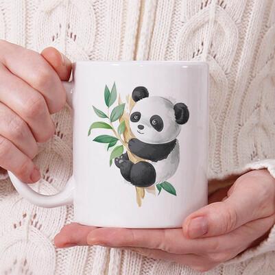 - Cute Panda Tasarım Kupa Bardak
