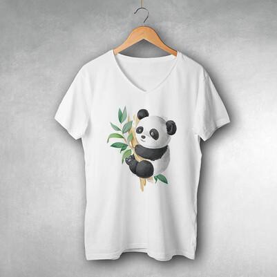 - Cute Panda Tasarım Tişört
