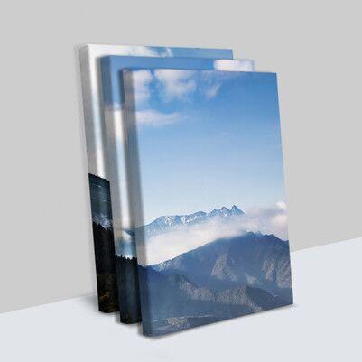 Dağ Manzaralı 3 Parça Kanvas Tablo - Thumbnail