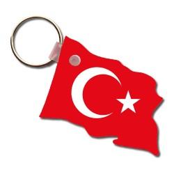 - Dalgalanmış Türk Bayrağı Anahtarlık