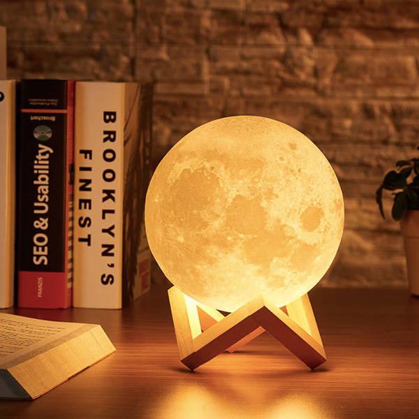 Dekoratif 3D Ay Gece Lambası