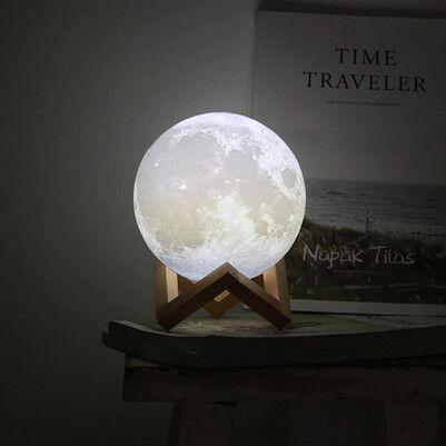 Dekoratif 3D Ay Gece Lambası - Thumbnail