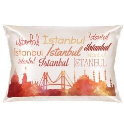 - Dekoratif İstanbul Silüeti Yastık