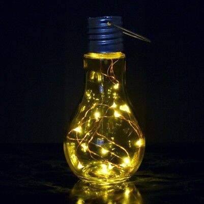 - Dekoratif LED Ampul Lamba Sarı Işıklı
