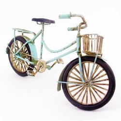 - Dekoratif Nostaljik Metal Mavi Bisiklet