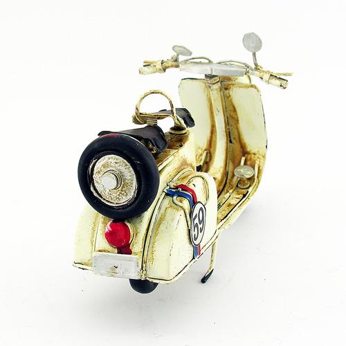 Dekoratif Nostaljik Metal Motosiklet