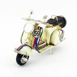 Dekoratif Nostaljik Metal Motosiklet - Thumbnail