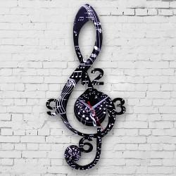 Dekoratif Sol Anahtarı Duvar Saati - Thumbnail