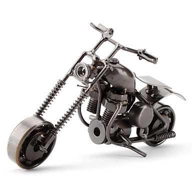 Dekoratif Metal Motosiklet Biblo