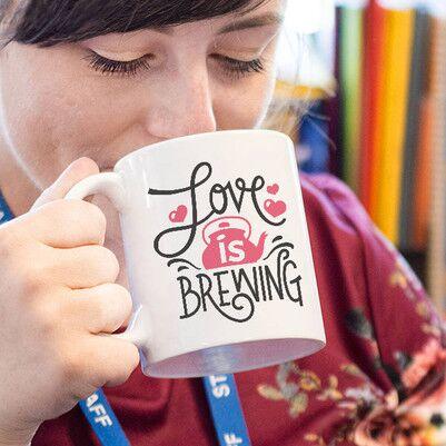 - Demleme Çay Sever İçin Tasarım Kupa Bardak