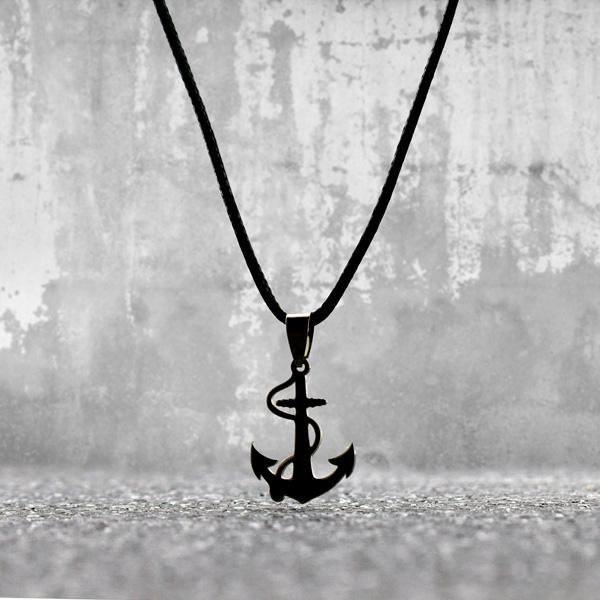 Denizci Çapası Çelik Kolye
