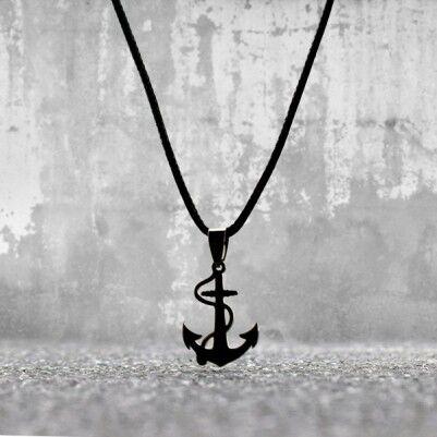 - Denizci Çapası Çelik Kolye