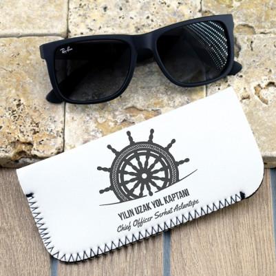Denizci Kaptanlara Hediye Gözlük Kılıfı - Thumbnail