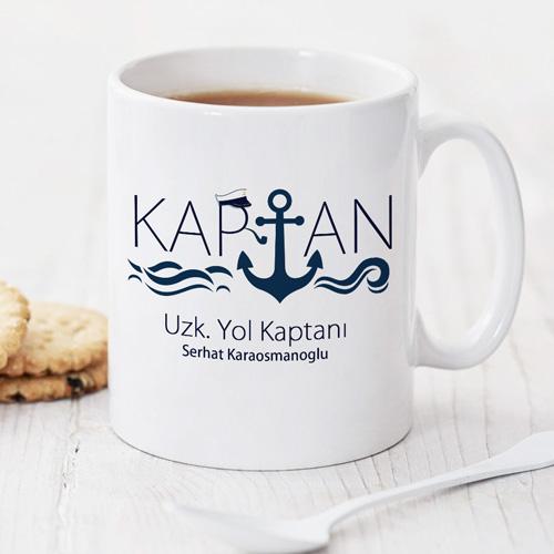 Denizci Kaptanlara Özel Kupa Bardak