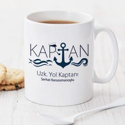 Denizci Kaptanlara Özel Kupa Bardak - Thumbnail