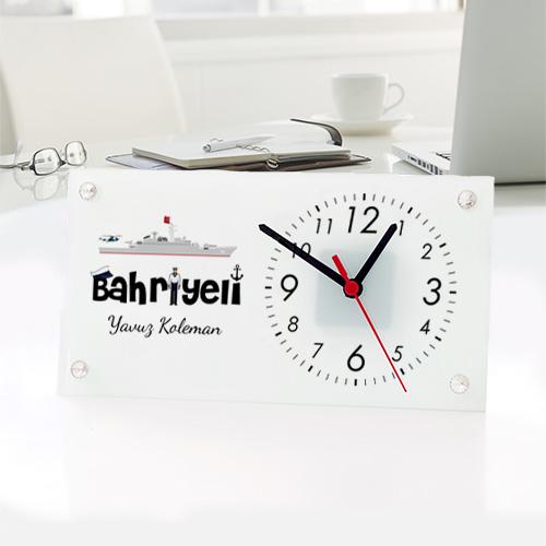 Denizcilere Özel Cam Masa Saati