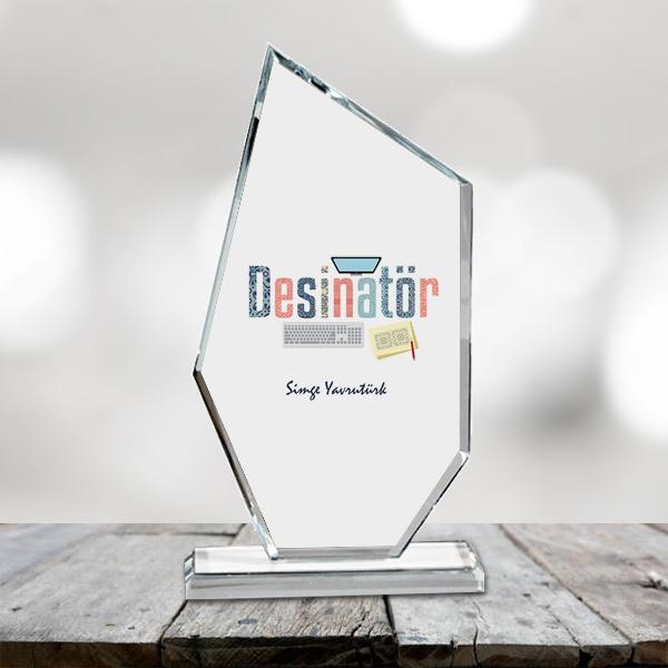 Desinatörler İçin Hediyelik Cam Ödül
