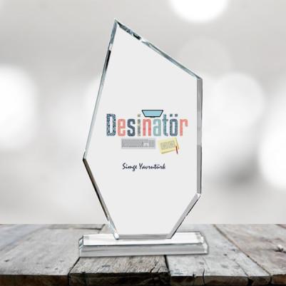 - Desinatörler İçin Hediyelik Cam Ödül