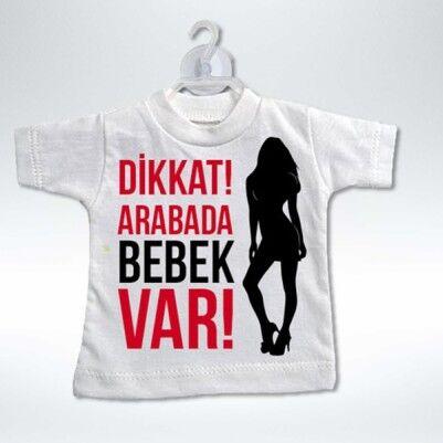 Dikkat! Arabada Bebek Var Tişörtü - Thumbnail
