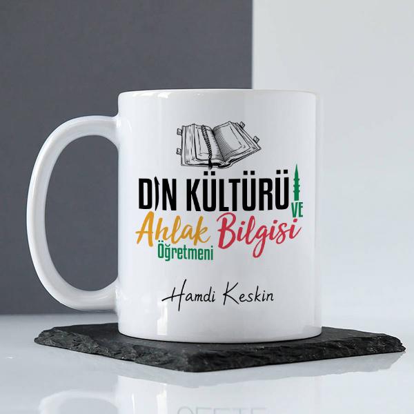 Din Kültürü Öğretmenine Hediye Kupa Bardak