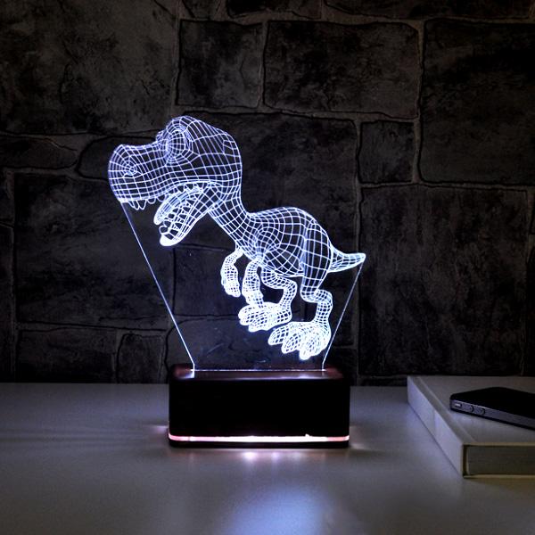 Dinozor 3D Led Gece Lambası