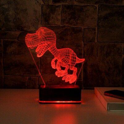 - Dinozor 3D Led Gece Lambası