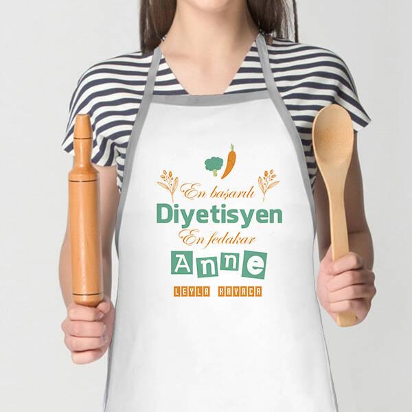 Diyetisyen Annelere Özel Mutfak Önlüğü