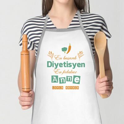 - Diyetisyen Annelere Özel Mutfak Önlüğü