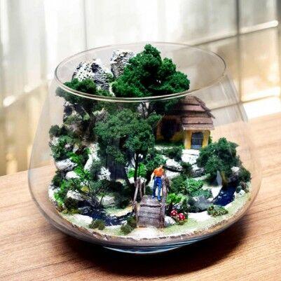 - Doğa Manzaralı Teraryum Bahçe