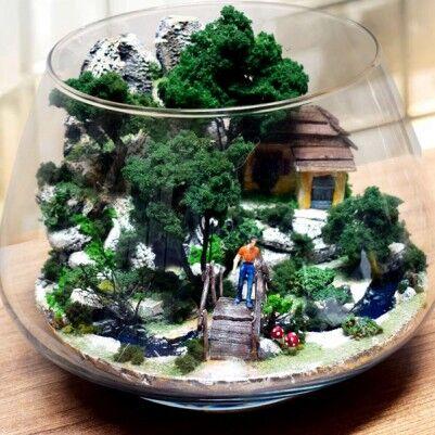 Doğa Manzaralı Teraryum Bahçe - Thumbnail