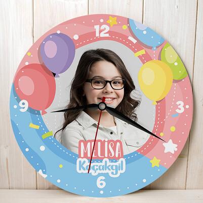 - Doğum Günü Balonları Çocuk Duvar Saati