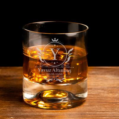 - Doğum Günü Hediyesi Tarihli Viski Bardağı