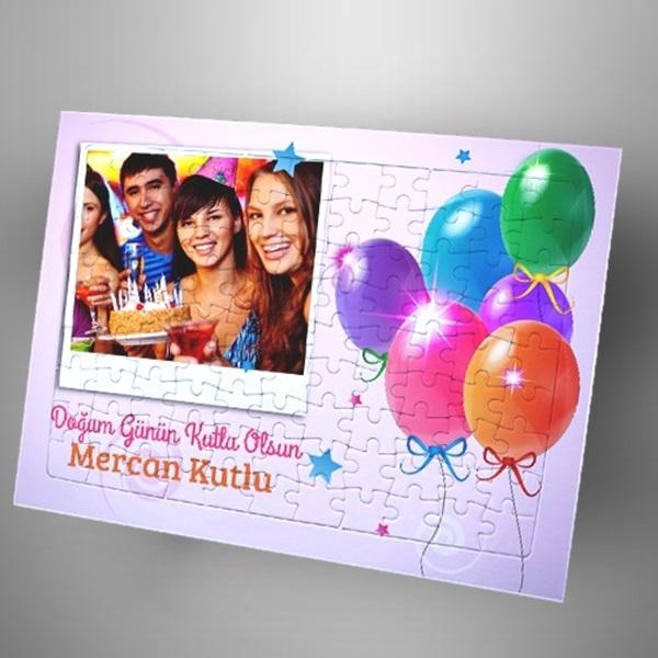 Doğum Günü Konseptli Fotoğraflı Puzzle